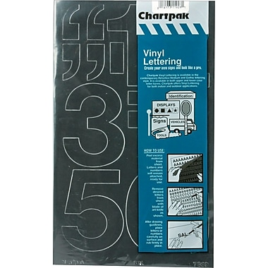 Chartpak Press-On Vinyl Numbers, 3