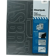 "Chartpak Press-On Vinyl Uppercase Letters, 4"" high, Helvetica, Black"