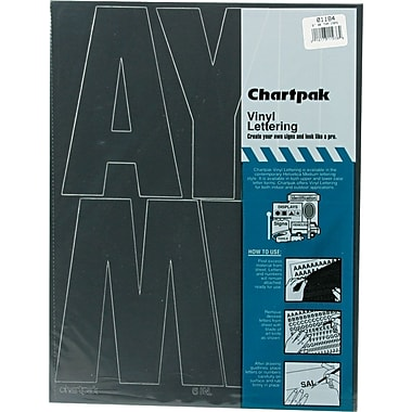 Chartpak Press-On Vinyl Uppercase Letters, 6
