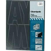 "Chartpak Press-On Vinyl Uppercase Letters, 6"" high, Helvetica, Black"