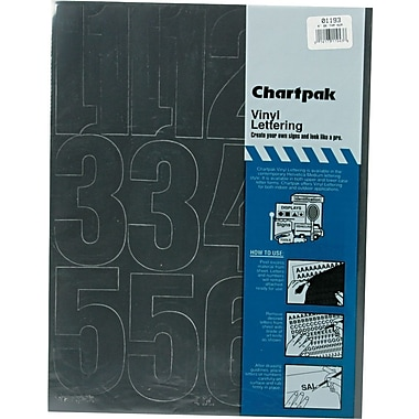 Chartpak Press-On Vinyl Numbers, 4