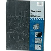 "Chartpak Press-On Vinyl Numbers, 4"" high, Helvetica, Black"