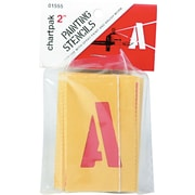 "Chartpak Painting Stencil Set, 2"" Capital Letters & Numbers"