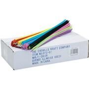"""Chenille Kraft® Regular Stems, Assorted, Craft Materials, 12"""" x 4mm, 1000/Pack (9112-01)"""