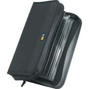 CD-ROM Wallet with ProSleeve® Pockets, 64-Disk Capacity, Black Nylon