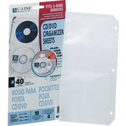 C-Line Deluxe CD Standard Ring Binder Storage Pages, Clear, 10/Pk