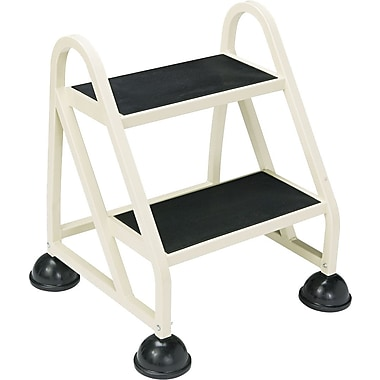 Cramer Two-Step Stop-Step Aluminum Ladder, Beige, 23-1/4''