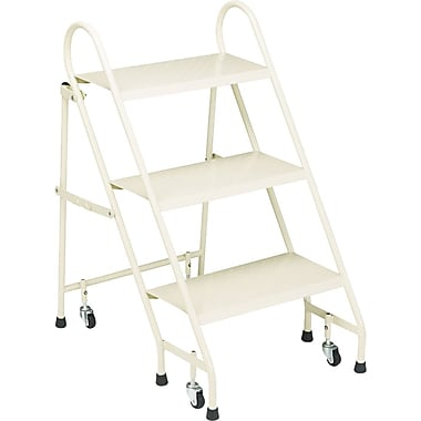 Cramer Folding 3-Step Steel Ladder, 27in.