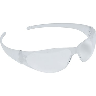MCR Safety® ANSI Z87 Checkmate Crews Safety Glasses, Uncoated, Clear, 12/Box