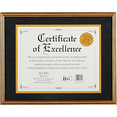 Hardwood Document/Certificate Frames with Mat