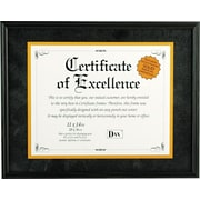 Hardwood Document/Certificate Frame with Mat, Black
