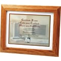 Stepped Oak Document/Certificate Frames, 8 1/2 x 11