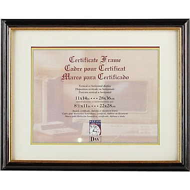 Document/Certificate Frames with Elegant Mat, Mahogany/Gold Leaf Edge