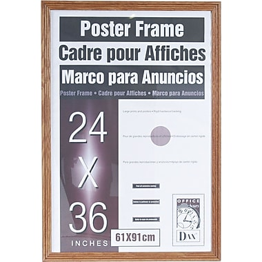dax plastic poster frame with plexiglas window 24 x 36