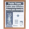 Dax Plastic Poster Frame with Plexiglass Window, 18 x 24