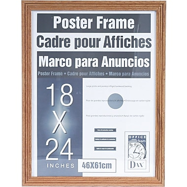 dax plastic poster frame with plexiglass window 18 x 24