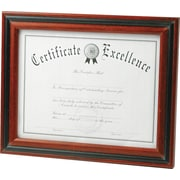 DAX Two-Tone Rosewood/Black Document Frame, Desktop, 8-1/2 x 11