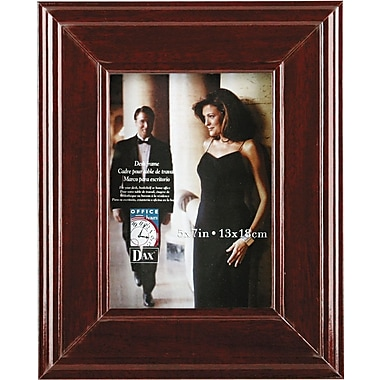 DAX Executive Document Frame, Desktop or Hang, Mahogany, 5 x 7
