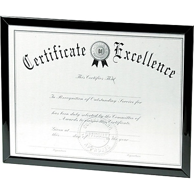 DAX Value U-Channel Document Frames 8-1/2 x 11 Black