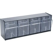 Deflecto® Tilt Bin™ Multipurpose Storage and Organization 4-Bin System