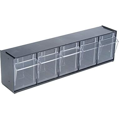 Deflecto® Tilt Bin™ Multipurpose Storage and Organization 5-Bin System