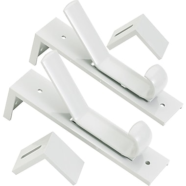 Deflecto® Gray Plastic Partition Hooks