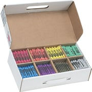 Dixon® Ticonderoga® Prang® 32350 Crayon With Soy, Assorted, 800/Box