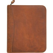 "Day-Timer Aviator D81844E  8 1/2"" x 11"" Distressed Leather Starter Set Folio Size, Dark Tan"