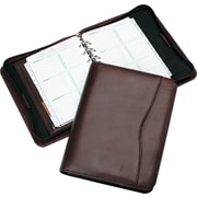 Day-Timer® Verona Leather Starter Set, Zip Closure, Burgundy, Desk Size