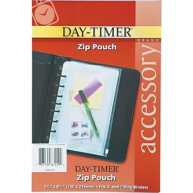 Day-Timer® Zip Pouch, Desk Size