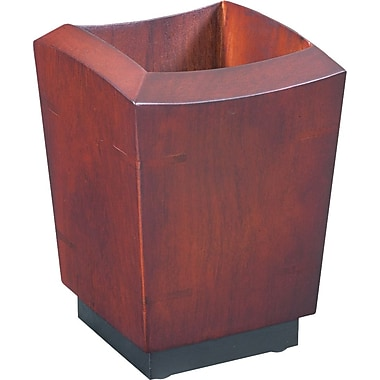Eldon® Executive Woodline II Pencil Holder, 4 5/8in.H x 3 1/4in.W x 3 1/4in.D, Mahogany Finish
