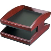 Eldon® Executive Woodline II Double Letter Tray, 7 5/8H x 11W x 14 1/4D, Mahogany Finish