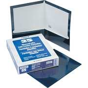 "Oxford High-Gloss Laminated Portfolio, Dark Blue, 8 1/2"" x 11"", 25/Bx"