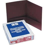 Esselte America Linen 2-Pocket Folders, Burgundy, 25/Box