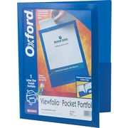 "Oxford Oxford Poly Viewfolio Portfolio, Blue, 9 1/2"" x 11 5/8"", Each"
