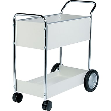 Fellowes Dove Gray Steel Mail Cart