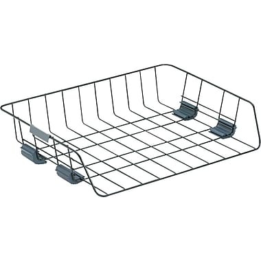 fellowes black wire side load letter tray