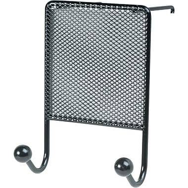 Fellowes® Partition Additions™ Steel Wire Mesh Double Coat Hook, Black