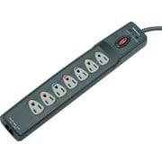 "Fellowes® Power Guard Surge Protector, Phone/Fax/Modem, 7-Outlet, 1,600 Joules, Graphite, 1-3/4""H x 2-1/2""W x 14-1/4""D"