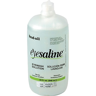 Fendall Sperian Saline Eye Wash Bottle Refill, 32 oz., 12/Carton