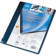 GBC® - Couvertures de présentation Designer Premium Plus, marine uni, couverture arrière, paq./25