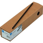 "GBC CombBind Plastic Binding Spines, Black, 1/4"", 25 Sheet Capacity, 100/Pack"