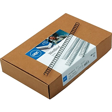 GBC WireBind Binding Spines, Black, 1/4in. Size, 40 Sheet Capacity, 100/pack