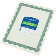 "Geographics Blank Award Certificates, 60-lb., Green with Golden Seal, 8 1/2""H x 11""W, 25/Pack"
