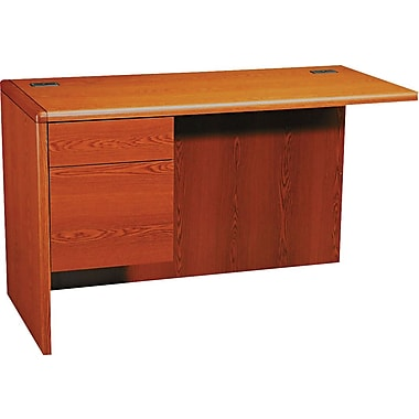 HON 10700 Series 48in. Left Return for L-Workstation, Henna Cherry