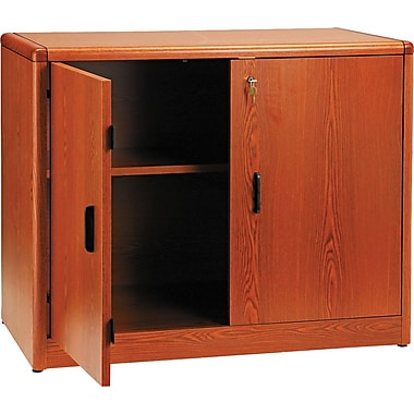 HON 10700 Series Storage Cabinet with Adjustable Shelf, Henna Cherry