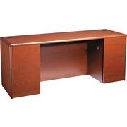 HON® 10700 Series Full Pedestal Kneespace Credenza, Henna Cherry