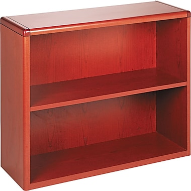 HON 10700 Series 2-Shelf Bookcase, Henna Cherry