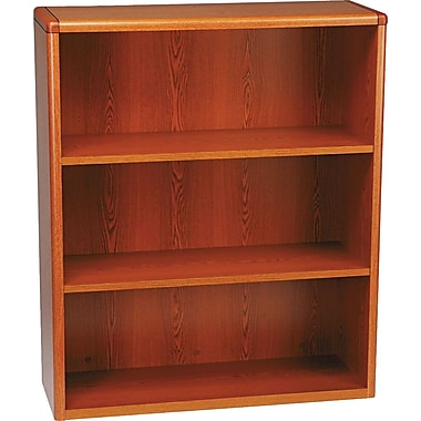 HON 10700 Series, 3-Shelf Bookcase, Henna Cherry