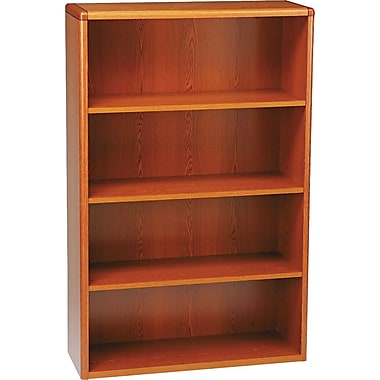 HON 10700 Series, 4-Shelf Bookcase, Henna Cherry